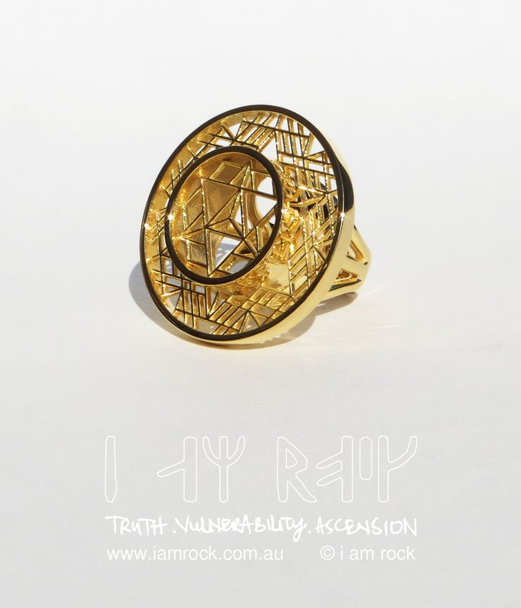 "i am rock Statement Rings -Ascension in 14K Gold Plated. Currently on sale through our kickstarter campaign. Check it out kck.st/2jYhKv8  This ring bears the inscription :You alone fill the universe"" - The Ashtavakra Gita"