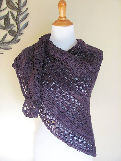 The Crochet Awards 2015 Judges' Nominee - Best Shawl/Wrap - Wrapped in Warmth by Kathy Lashley