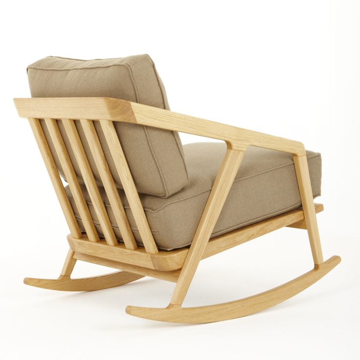 Katakana Rocking Chair - кресло-качалка для гостиной. Скандинавский стиль, модерн.