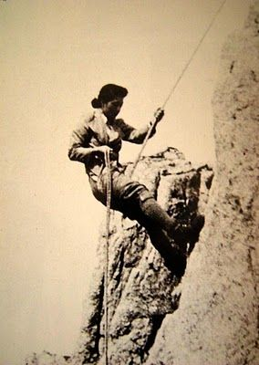 Kuroda Hatsuko (b.1903; pictured abseiling above) married mountaineer, Kuroda Masao: they visited Amagi on their honeymoon in 1923. Soon the Kurodas were tackling sterner stuff. With her husband as climbing partner, Mrs Kuroda notched up first female ascents of Ko-Yari, Tsurugi Yatsu-mine, and Kita-Hodaka's East Ridge, all destinations that require rock-climbing skills and a head for heights. She parlayed her knowledge of nutritional science into a book on food and gear for…