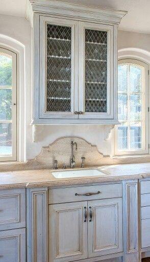 Limestone countertop & splash