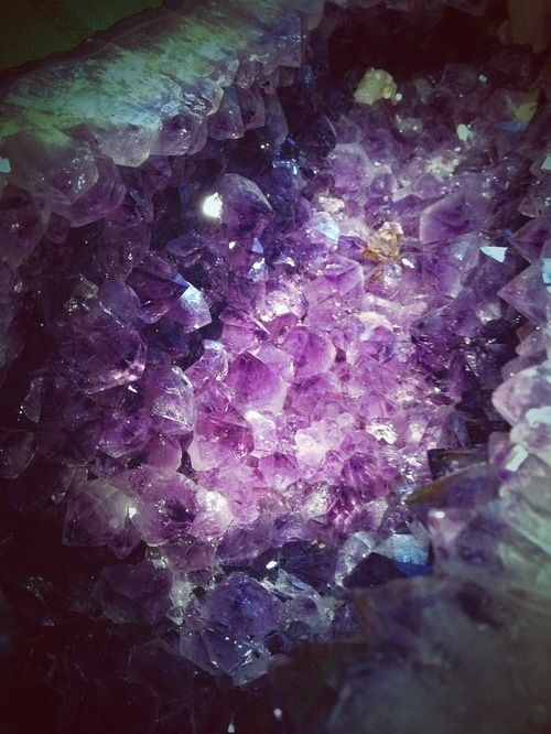 I love amethyst in all of its richer and subtler shades. I used to have an enormous amethyst geode - the exterior was green and inside was a cave of wonders. Sadly, it broke. I still have big chunks though! :P