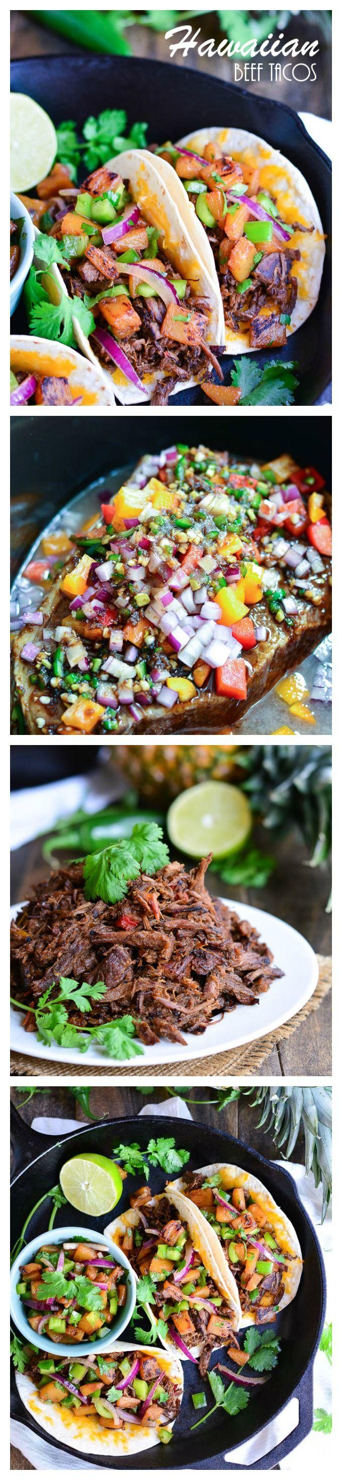 Hawaiian Beef Tacos | Garnish & Glaze