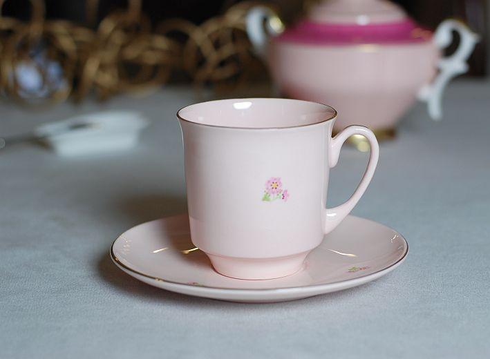 Filiżanka June z różowej porcelany Beautiful June cup (pink porcelain)