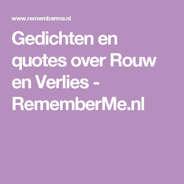 Gedichten en quotes over Rouw en Verlies - RememberMe.nl