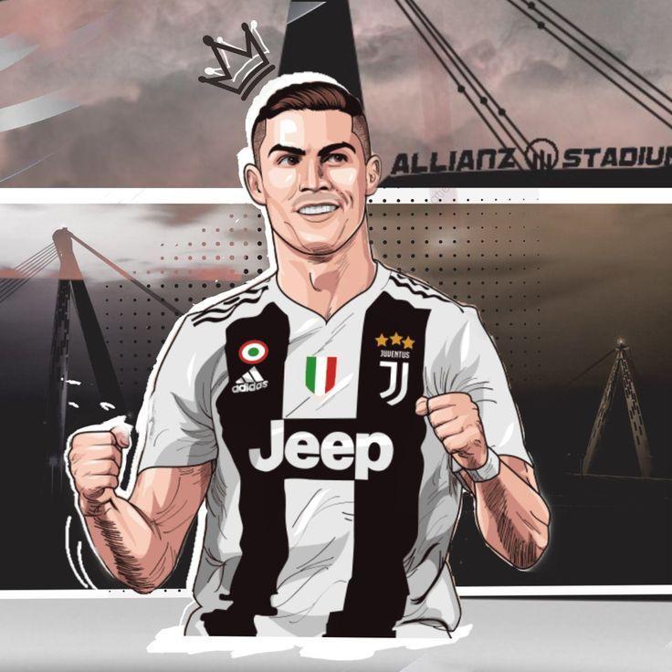 Cristiano Ronaldo Cartoon Soccer En 2020 Ronaldo Juventus Desssin