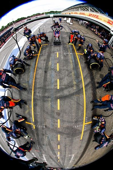 Carlos Sainz of Scuderia Toro Rosso and Spain during the Formula One Grand Prix…