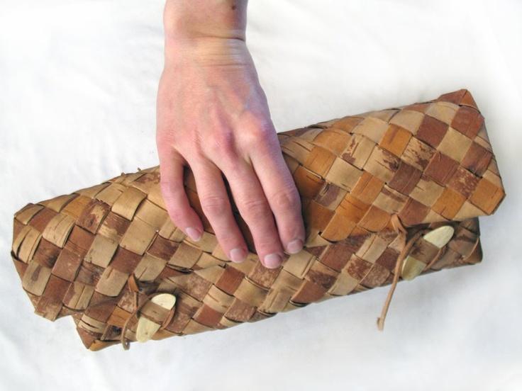 Birch Bark Clutch purse