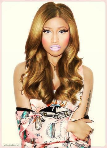 Nicki Minaj gyaru-kei / ganguro style in Prada for Wonderland.