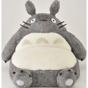 The ultimate item for Totoro fans, this one-person couch is shaped like a giant gray Totoro!