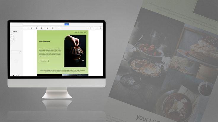 Newsletter Design for Cake Store