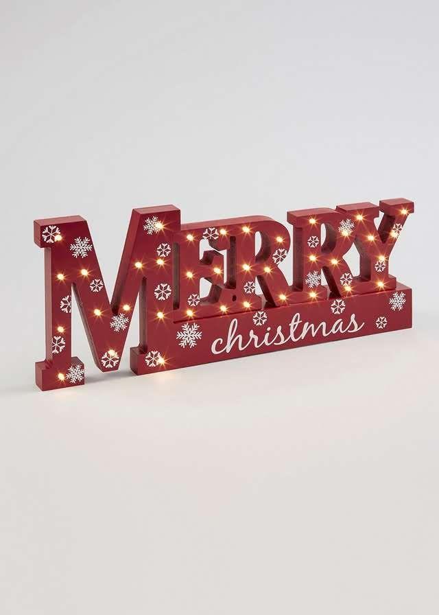 Christmas Light Up Word Decoration (42cm x 4cm x 18cm) View 1
