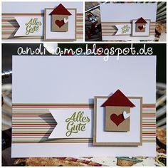 Schnelle Karte zum Einzug. Materialangaben auf: www.andi-amo.blogspot.de #Stampin Up Karten #Zum Einzug