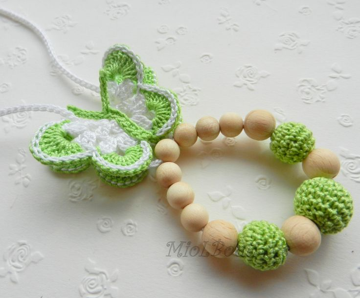 Nursing necklace Teething necklace cotton by MioLBoutique on Etsy, $9.00