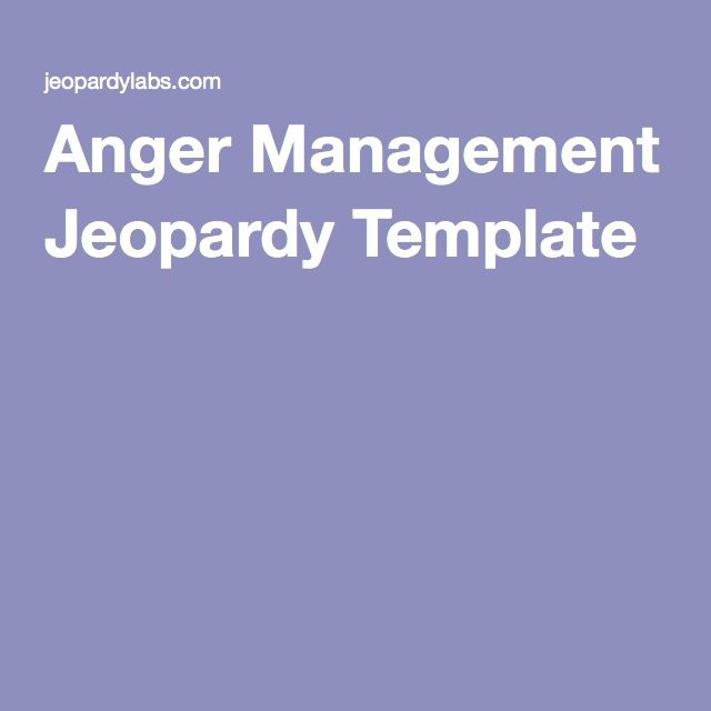 Clever Jeopardy Categories: The 25+ Best Anger Management Games Ideas On Pinterest