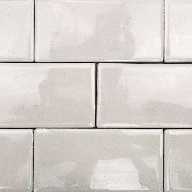 Nabi Glacier White 3x6 Ceramic Tile | TileBar.com