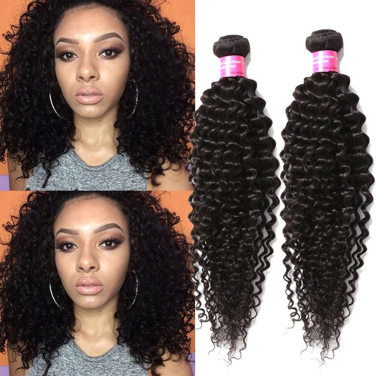 """US Local 20""""20""""20"""" Natural Black Jerry Curly Human Hair Extension Afro Hair Weft #WIGISS #HairExtension"""
