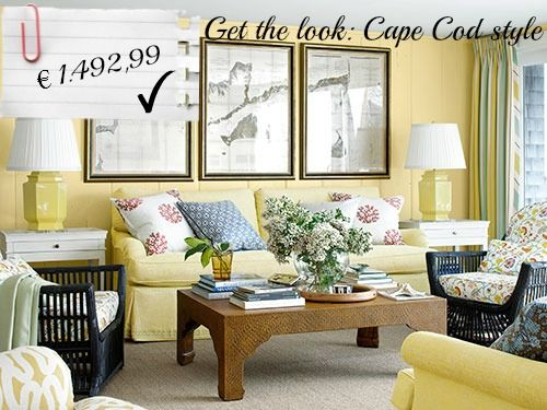 Affordable ideas to obtain a Cape Cod style in your living room!