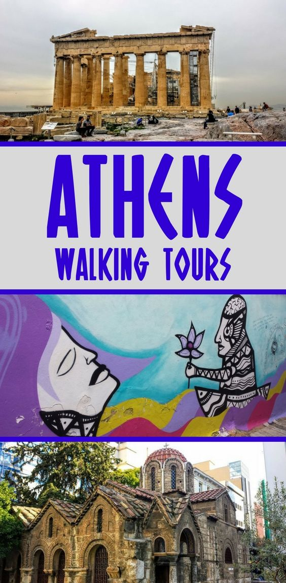 Athens walking tours are an ideal way to see the main attractions, and learn about the Greek capital. There's a lot waiting for you, from the obvious attractions such as the Acropolis to cool street art. Here's details about one Athens self guided walking tour, and 5 themed sightseeing walking tours in Athens #Athens #greece