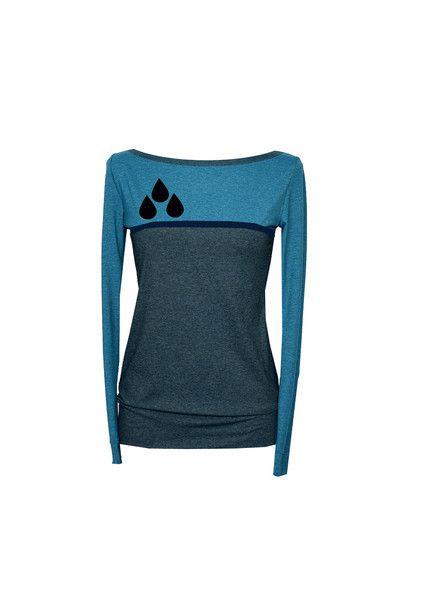 Longsleeves - Longsleeve  COL-01   langarm shirt damen blau  - ein Designerstück von Iza-Fabian-Design bei DaWanda