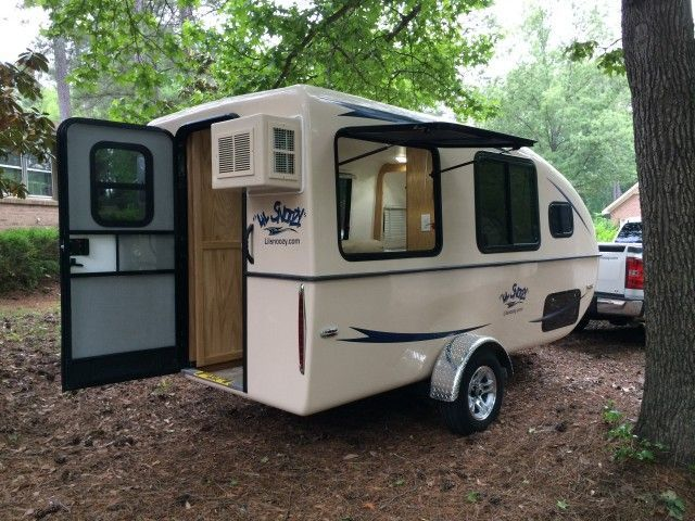 The most advanced, forward-thinking small travel trailer design since the inception of campers. Finally a small camper with tons of elbow room. Dimensions : Over All: Length 18 ft. 6 in. (encompasses tongue to rear of AC unit), Height 7 ft. 7 in., Width 8 ft. (from outside tire to outside tire) Starting at $19,995.00