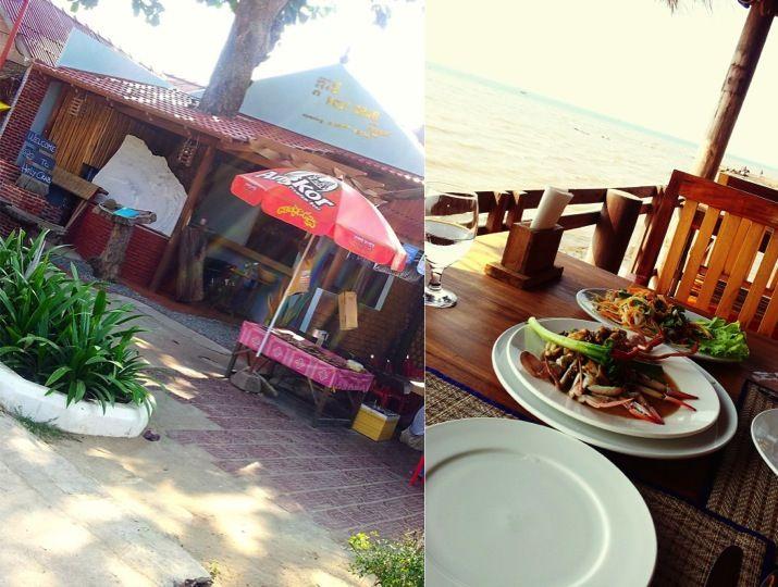 "Kampot Pepper Crab and Mango Salad at ""Holy Crab"" Restaurant in #Kep, #Cambodia #southeastasia"