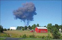 Val McClatchey snapped this photo moments after Flight 93 hit the ground near Shanksville, Pennsylvania.