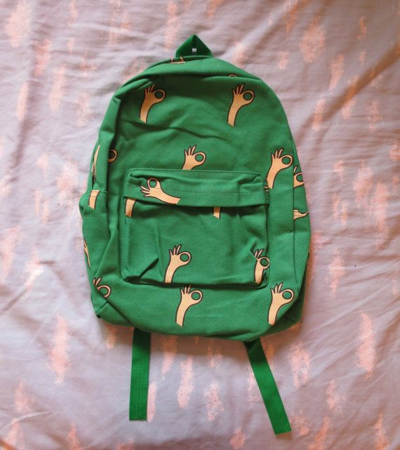 Bright Green OK Sign Backpack.