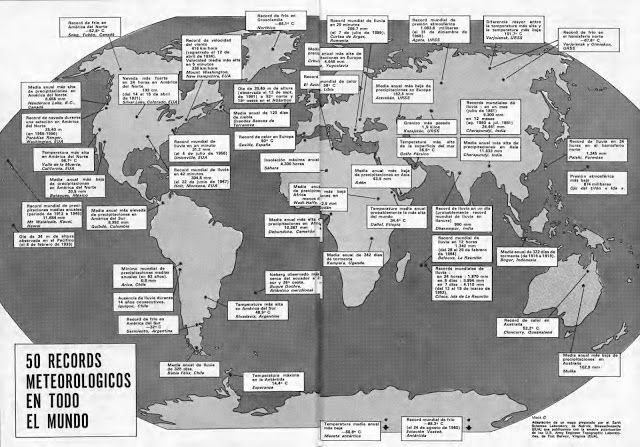 50 records meteorologicos en todo el mundo