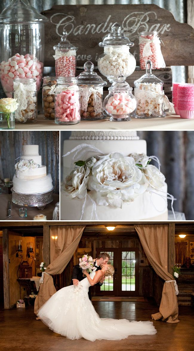 "Love the Candy bar in the wedding colors. From ""Love and Lavender"" blog"