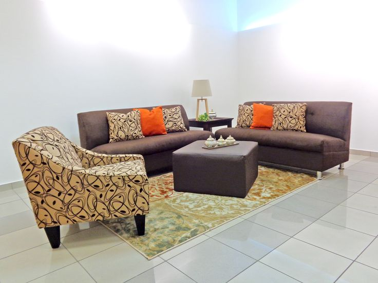 Juego de sala 2 sofas mod veranda silla ocasional de for Sofa modular tela