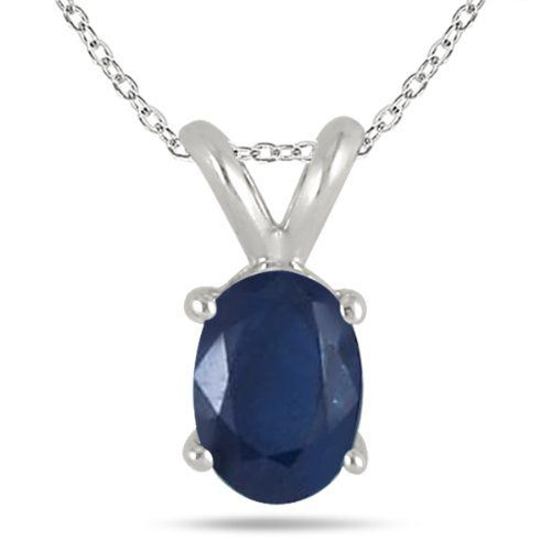 All-Natural Genuine 7x5 mm, Oval Sapphire pendant set in Platinum Szul. $799.00. Complimentary Packaging. 60 Day Complimentary Repair Service. 30 Day Money Back Guarantee