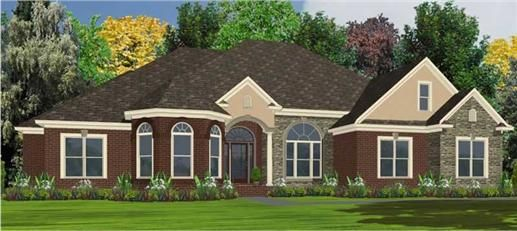 This house plan is offers peace and relaxation.  With its traditional look any guest will feel welcome.  With this home plan you can relax in the large tub located in the master bathroom while your children sleep in their spacious rooms.