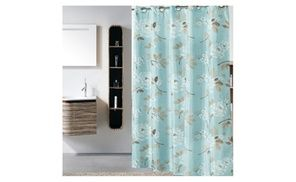 Groupon - Riho 72x78 Inch Polyester Hookless Waterproof Green Shower Curtain. Groupon deal price: $19.99