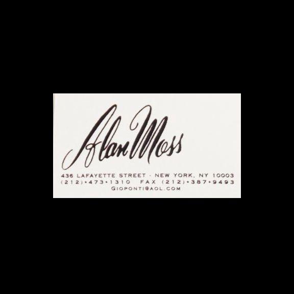 Alan moss business card futura font business cards for Good font for business cards