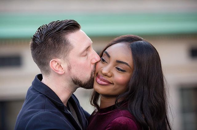 Beautiful Interracial Couple!!! I'd been wanting to shoot at this location for ages, and H and A made it worth the wait! #wmbw #bwwm #interracialdating #interracialcouple