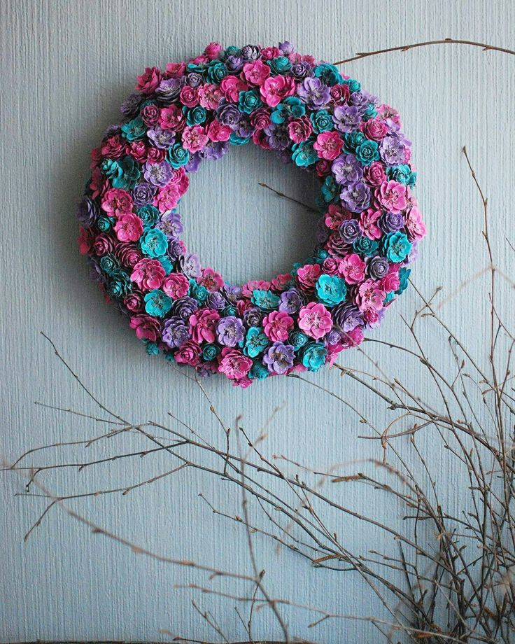 Larch cone wreath