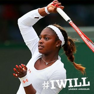 """You fight and fight. Get every ball back, run every ball down and never, ever doubt.""  #IWILL -Sloane Stephens"