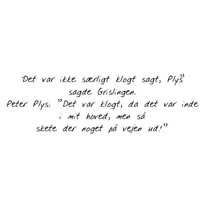 peter plys citat kærlighed - Google-søgning