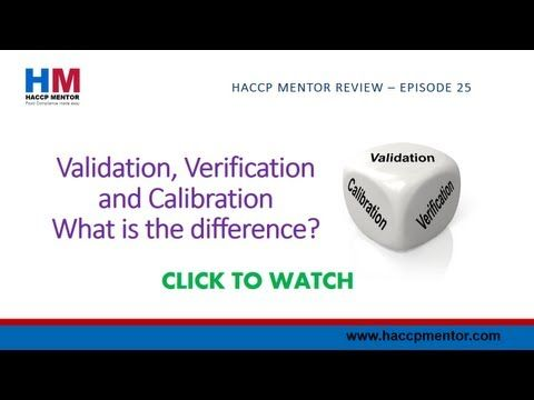 What is the difference between HACCP Validation and HACCP Verification