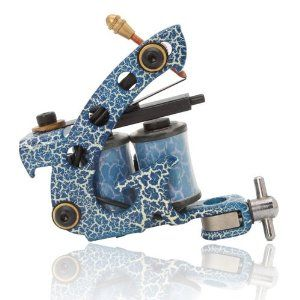 Colorful Beginner 10 Wrap Coils Tattoo Machine Liner Shader Gun HB-WPT095E Blue,$4.98