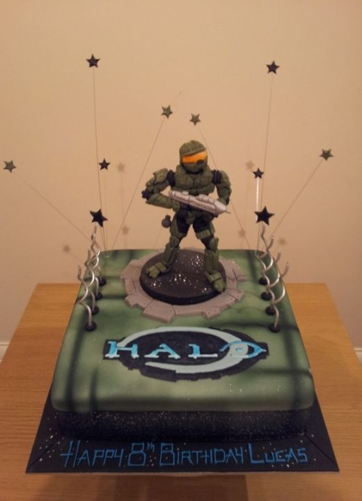 Halo Reach Birthday Cake   Pin Halo Birthday Cake 6 10 From 55 Votes 4 43 On Pinterest Picture