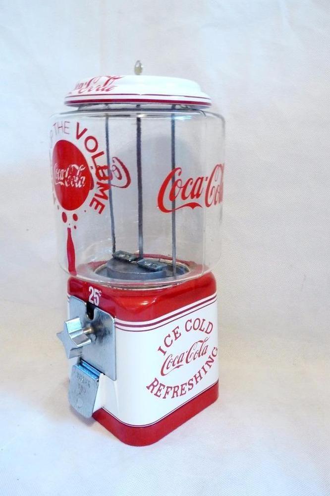 Coca cola memorabilia vintage Acorn gumball machine glass globe candy nut vend #Acorn