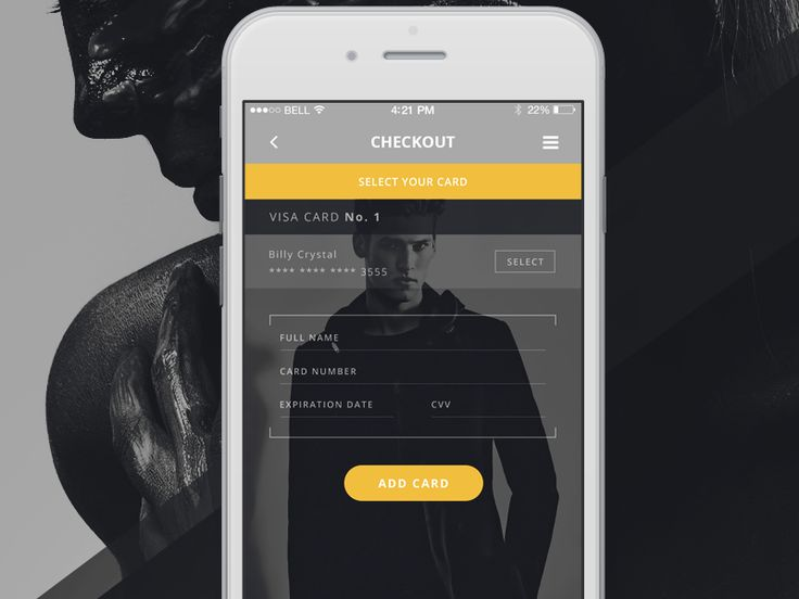 Fashion App - Select and add a card by Robert Berki