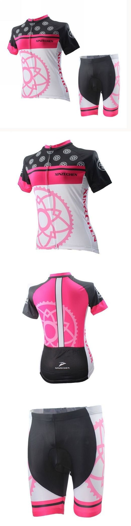 Jersey and Pant Short Sets 177852: Racing Xinzechen Women Cycling Clothing Bike Short Sleeve Bicycle Jersey Shorts BUY IT NOW ONLY: $31.24