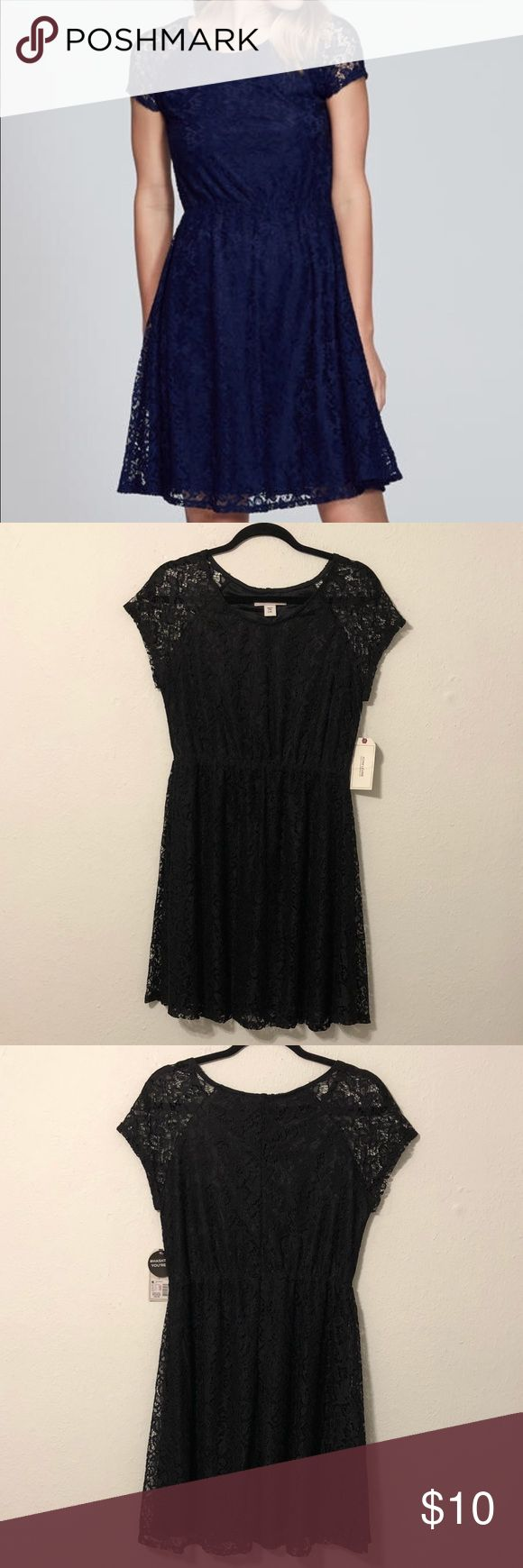 Adam Lavigne Black Dress NWT Black Lace Dress! Measurements are Length 36 1/2, Bust 17 Inches, Waist 15 Inches Adam Levine Collection Dresses Midi