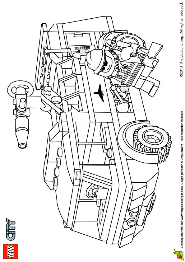 86 best coloriages de camions images on pinterest trucks coloring pages and art drawings - Camion pompier coloriage ...