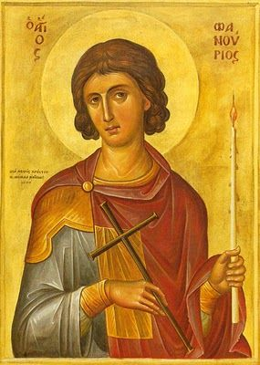 Saint Phanourios Protector of the students! Students who seek for help and courage during a diffucult exam, or when they feel anxious and hopeless, they have their saint always praying for them!