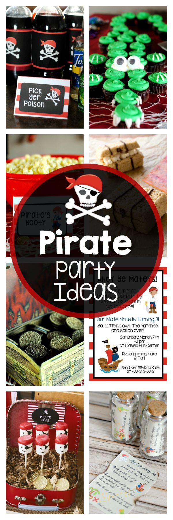 Tons of Pirate Party Ideas from Crazy Little Projects