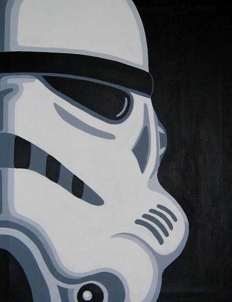 Striking Stormtrooper Canvas